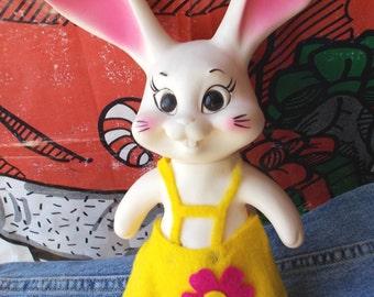 Vintage Bunny Rabbit Bank Creative Vinyl Royal Industries 1969