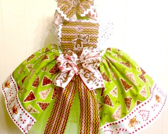Gingerbread Tutu Set-Ready2Ship Perfect for: Christmas, Pageant, Outfit of Choice, Special occasion, photo shoot, dress-up play
