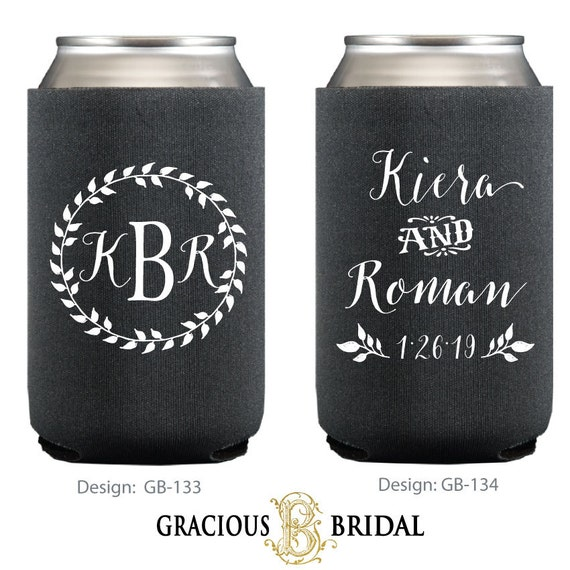 Custom Can Coolers ~ Personalized wreath can coolers huggies custom