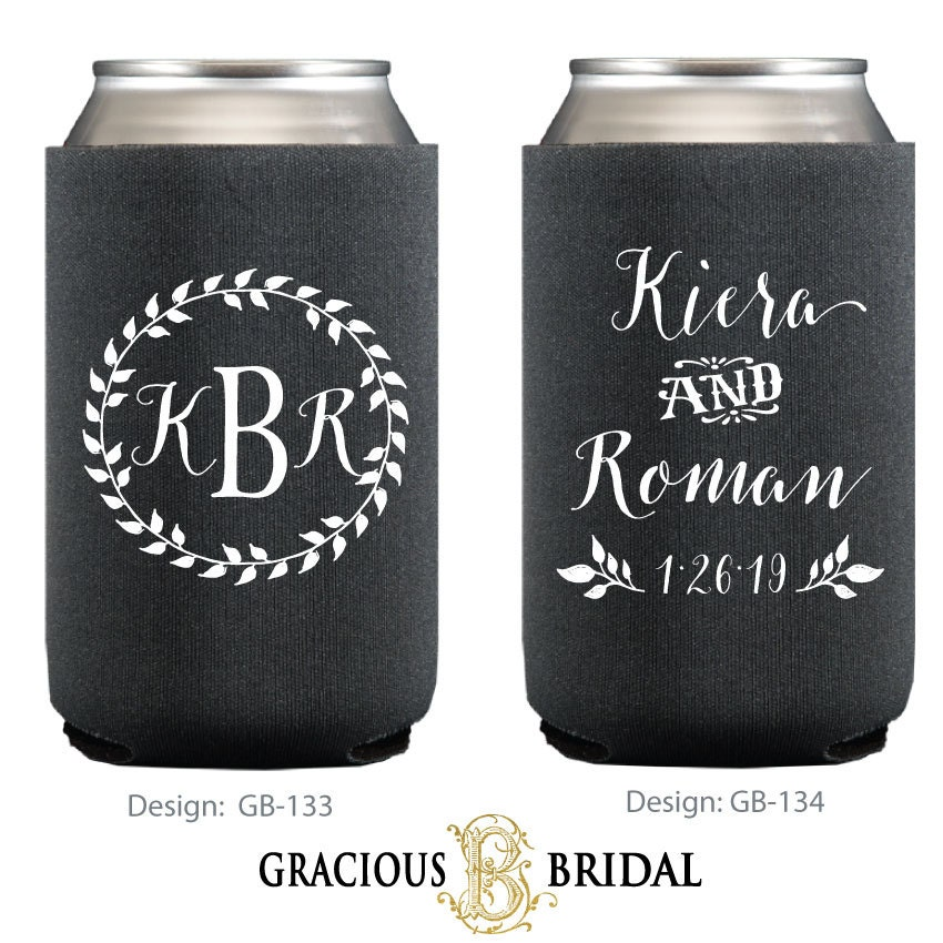 Personalized Can Coolers ~ Personalized wreath can coolers huggies