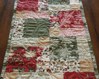 Christmas Quilted Table Runner or Square