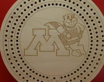 Minnesota Gophers Cribbage Board