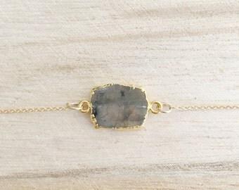 Labradorite gemstone necklace, gemstone necklace, labradorite necklace