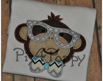 Hipster Nerdy  Monkey Boy instant download