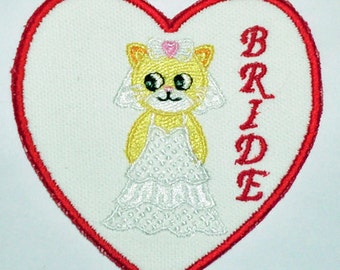 Iron-On Patch - BRIDE CAT