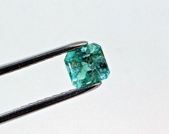 6.5mm 1.40 ct Square Cut Natural Colombian Emerald Loose Gemstone