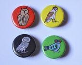 Ancient owl badge set