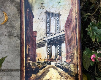 Manhattan Bridge - 8x16 in.