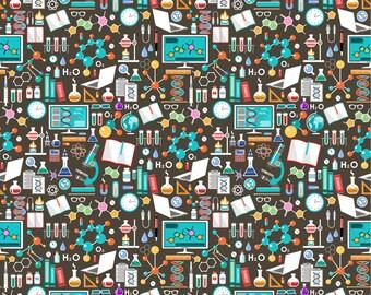 Geek on polyester swim knit fabric - UK seller