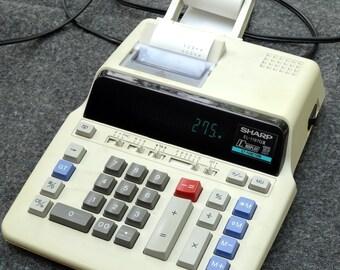 Sharp EL-1197GIII Desk Calculator Adding Machine.