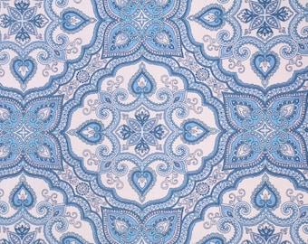 Waterproof Picnic Blanket-Bohemian Medallion in Blue