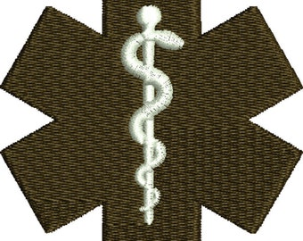 embroidery design Medical symbol Caduceus Embroidery Design,silhouette