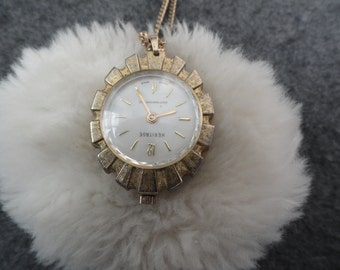Swiss Made Heritage Wind Up Necklace Pendant Watch