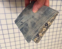 Soft Girls Denim Wallet...Made from repurposed Tie Dyed jeans.