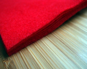 Felt - Red - Kunin Eco Rainbow Classic Felt Made from Recycled Plastic Bottles Eco-Fi Eco Friendly Recycled Polyester