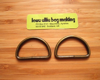 D Rings 1.25 (32mm) One & quarter inch D-Rings in Silver Nickel/Antique Brass Bag and Strap Hardware