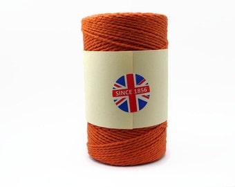 Solid Colour Orange Baker's Twine 100m