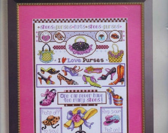 New Sealed FANCY HATS SHOES Counted Cross Stitch Kit Gal's Best Friends Kooler Design Studio Zweigart