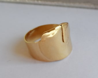 folded golden headband ring