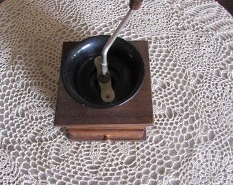 Vintage Coffee Grinder Wood and Metal.