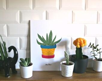 Print- Aloe Vera-
