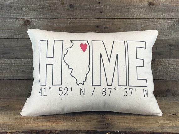 Custom Squishy Pillows : Home Coordinates State Pillow Custom Pillow by FinchandCotter