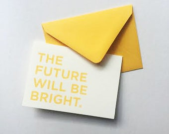 The Future Will Be Bright, Card set - 5 Pack
