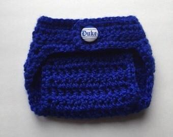 Duke diaper cover, Duke Blue Devils diaper cover, Duke baby shower gift, newborn diaper cover, baby diaper cover, boy diaper cover
