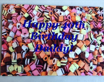 Personalised A3 / A4 Jigsaw / Puzzle - Liquorice Allsorts - Own Wording on Jigsaw 30/60/96/120/150/221 pieces