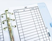 Printed Personal Size Bill Pay Checklist