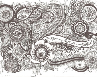 Greetings Card of My Original Drawing