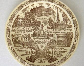 Quaint Old Savannah plate by Vernon Kilns for Friedman's Art Store