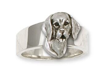 Beagle Dog Ring Jewelry Handmade Sterling Silver  BG16-R