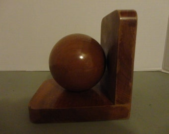 ABSTRACT DOORSTOP - BOOKEND - Wood Ball Bookend