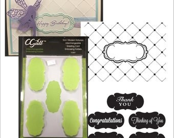 Modern Victorian interchangeable embossing folder Cgull embossing folders 12-0021 Thank you,Congratulations,thinking of you,Invited,Birthday