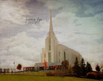 Rexburg Idaho LDS Temple Print
