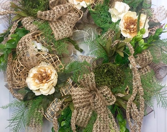 Ribbon Mesh Everyday and Summer Wreath