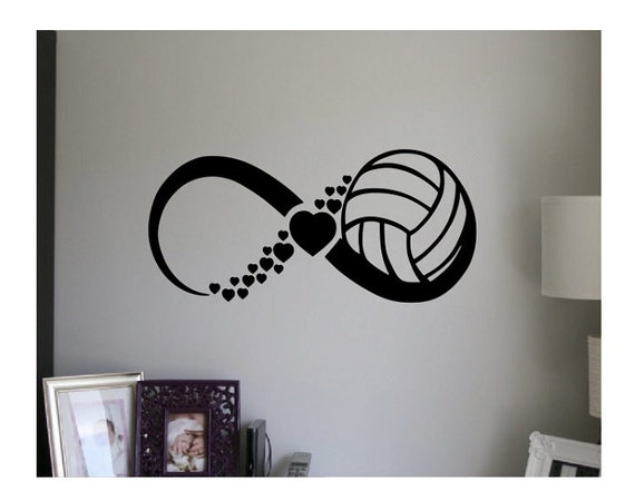 Volleyball Wall Decal Quote Infinity Sign Vinyl Decal Sticker - Vinyl volleyball wall decals