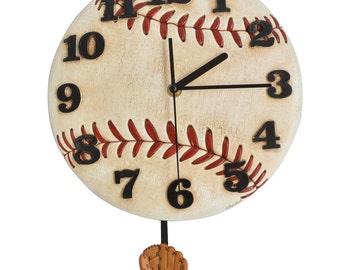 Pendulum Round Modern Clocks Sports Pendulum Wall Clock Baseball Shaped l Style Decorative || Baseball Geeks