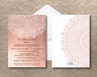 Bridal Shower Invitation - Bohemian - Moroccan - Shabby Chic
