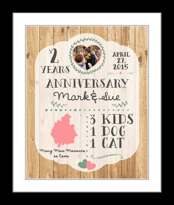Two Year Wedding Anniversary Gift: A 2 Year Anniversary Gift Husband Gift 2nd Anniversary Gifts