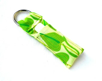 Green Lily Chapstick Keychain - Lily Flower Lip Balm Holder Cozy