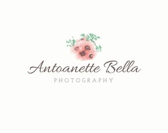 Watercolor Floral Logo, Chic Logo, Boho Logo, Florist Logo, Wedding Logo, Business Logo, Photography Logo, Premade Elegant Photograper Logo