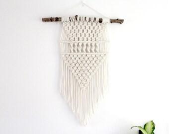 Macrame Wall Hanging - Triangle / Boho Wedding Decor  / Tribal Decor