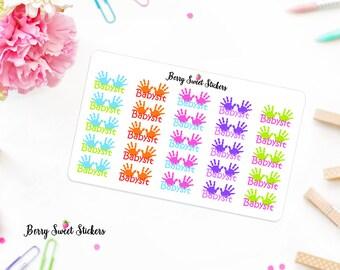 Babysit Planner Stickers Babysitting Planner Stickers Erin Condren Life Planner Happy Planner Plum Paper Planner Stickers Kikki k