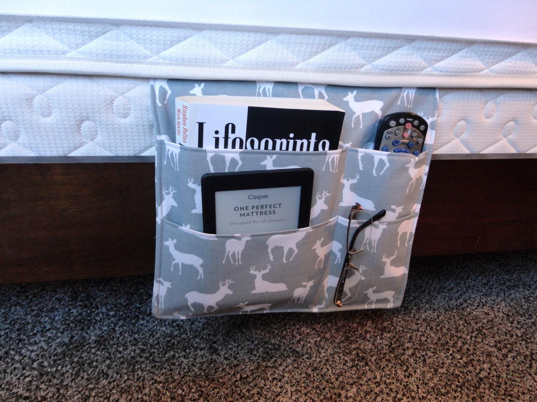 Bedside Caddy Bedroom Pocket Organizer Remote Holder With Free