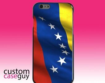 Hard Snap-On Case for Apple 5 5S SE 6 6S 7 Plus - CUSTOM Monogram - Any Colors - Venezuela Waving Flag
