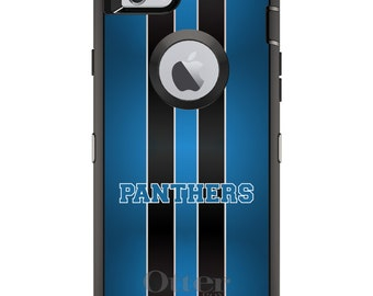 Custom OtterBox Defender Case for Apple iPhone 6 6S 7 8 PLUS X 10 - Personalized Monogram - Blue Black Panthers