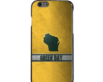 Hard Snap-On Case for Apple 5 5S SE 6 6S 7 Plus - CUSTOM Monogram - Any Colors - Green Bay Wisconsin
