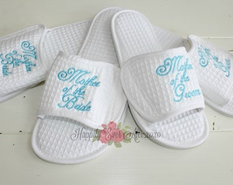 Wedding Slippers Mother of the Bride, Mother of the Groom Wedding Party Gifts Set of 2